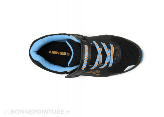 Airness Runny Noir Blanc Bleu clair Orange Basket 6
