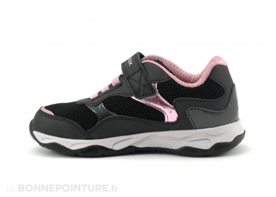 Geox CALCO J15CMA Black - Pink - Sneakers Fille 3