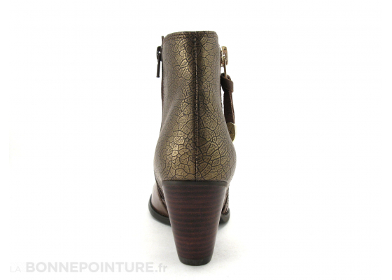Fugitive Prime marron taupe metal boots 4