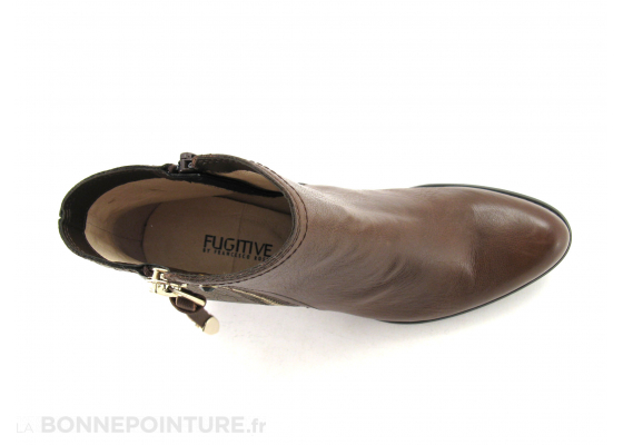 Fugitive Prime marron taupe metal boots 6