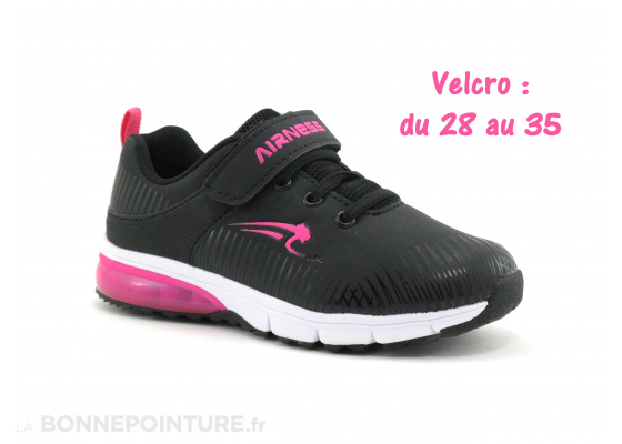 Airness SPLASH Black Fushia - Basket fille 2