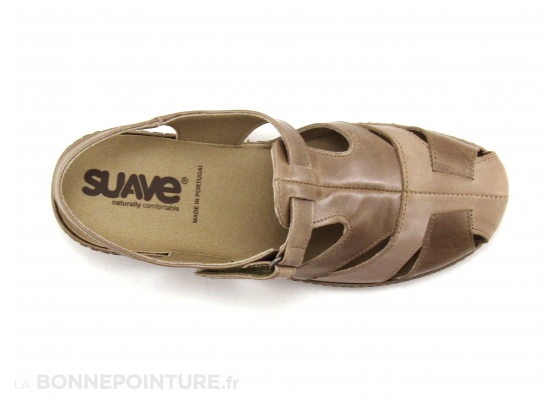 Suave Paris 0917T Peach Bisque Sandale bout ferme 6