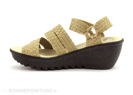 WOZ UP 689 Or Beige - Nu-pieds compense 3