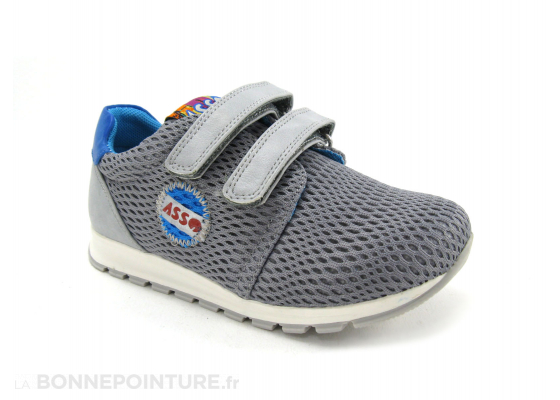 Asso Shoes 46103 Grey Basket velcro enfant 5
