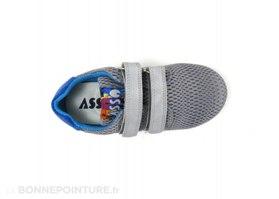 Asso Shoes 46103 Grey Basket velcro enfant 6
