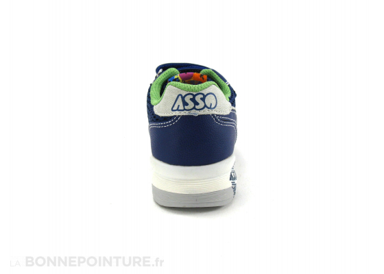 Asso Shoes 45515 Ming Bleu Basket enfant velcro 4