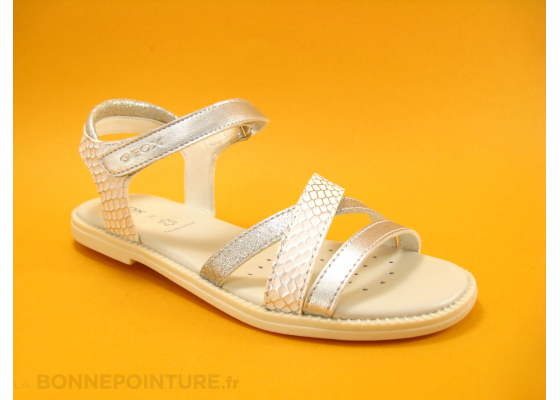 Geox Sand Karly White Silver J5235D nu-pieds fille 1