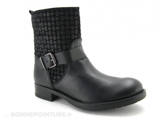 Fricote boots noires gaufree 1