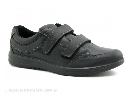 Light Step 41016nGV30 noir velcro basket 1