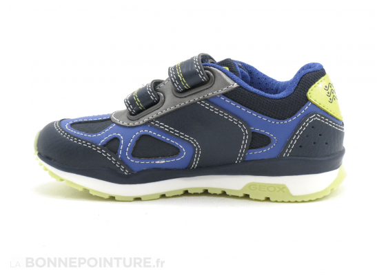 Geox PAVEL J8415A navy lime - 3 velcros - Basket GARCON 3