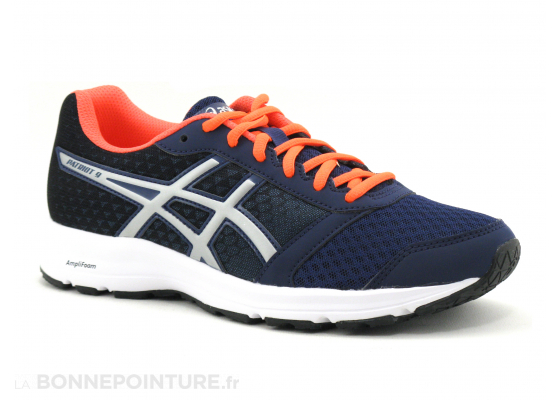 Asics PATRIOT 9 T873N 4993 Indigo Blue Silver Flash Coral 5