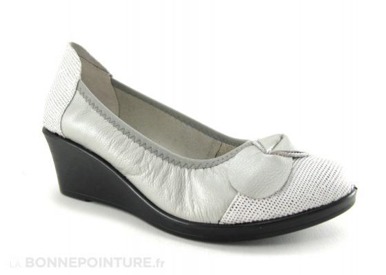 INEA Tabul Argent gris Ballerine compensee 5