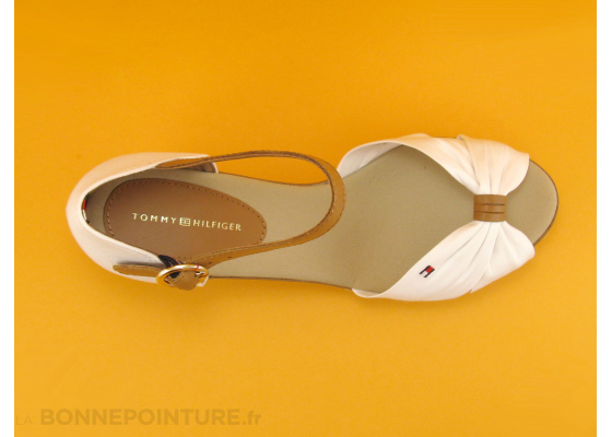 Tommy Hilfiger FW0FW00906 Iconic Elba Whisper White - Nu-pieds 6