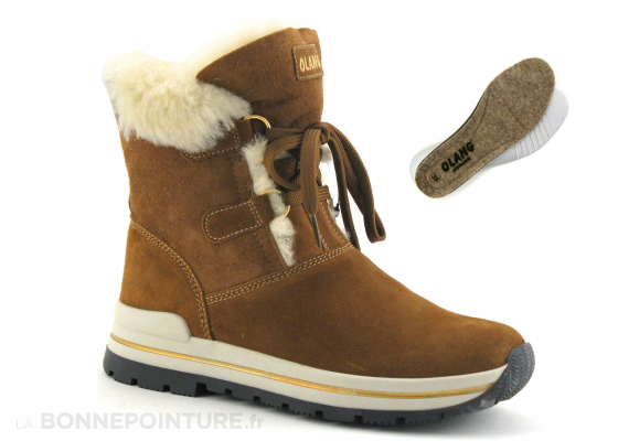 1339b6350d Olang LAPPONE Marron cuoio - Boots fourrees femme 1