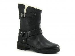 Superdry TEMPTER BIKER BOOT Black - Bottine Femme