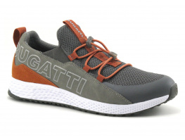 Bugatti JAVA 341-5176B-5900 dark grey - orange Basket Homme