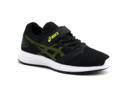 Asics PATRIOT 10 PS Black - Lemon spark - sport enfant