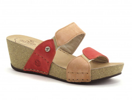 Fly Flot FRAYON Rouge -Rose nude - Mule compensee