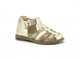 Bellamy DIDDLE Or Cognac - Sandale montante BEBE Fille