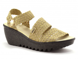 WOZ UP 689 Or Beige - Nu-pieds compense