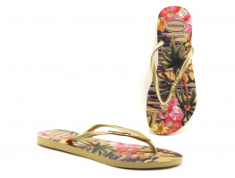 Havaianas SLIM Tropical Ivory - Tong Femme