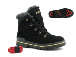 Olang GRETA OC Noir Or - Boots neige crampons