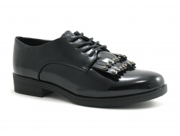 Claudia Ghizzani 2 237501 Black Wrinkle patent - Derby verni