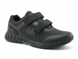 Kappa FASTER pu velcro - Black Dark grey - baskets homme