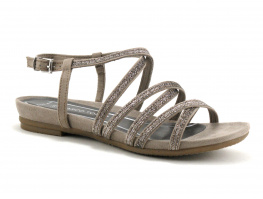 Marco Tozzi - 2-28106-22 Taupe - Nu-pieds plat Femme