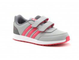 Adidas DB1711 VS Switch 2 CMF Gris Rose - Sneakers velcro