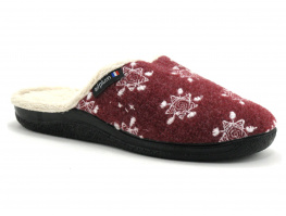 AirPlum WARM Grenat - Flocons - Pantoufle fourree