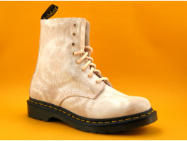 Dr Martens 1460 PASCAL SHELL Pink White Tie dye suede - Bottine