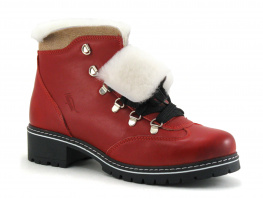 Hooper MILO Rouge - Boots fourrees Femme