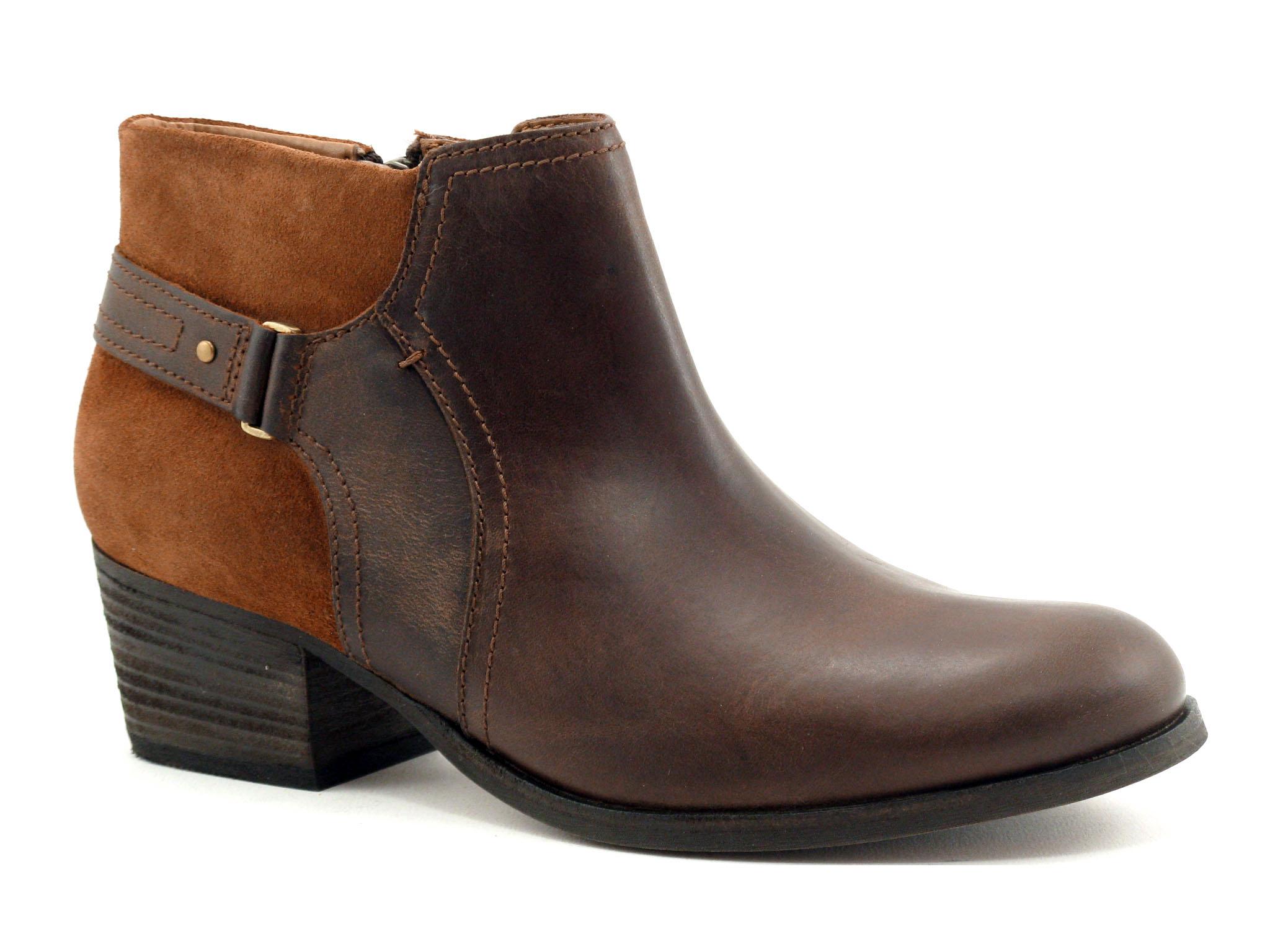 Boots femme clarks maypearl lilac dark tan...